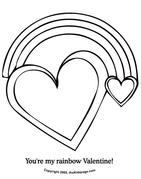 rainbow hearts coloring pages you re my rainbow valentine free coloring pages for