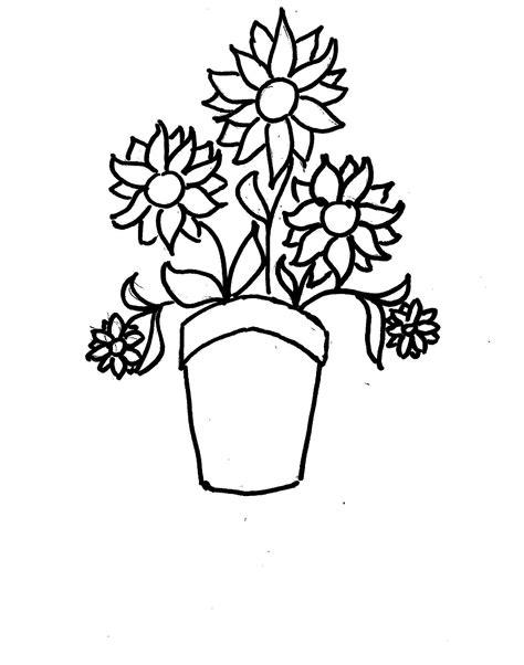disegni vasi vaso di fiori da colorare
