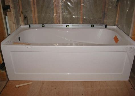 bathroom installing a bathtub the best method for