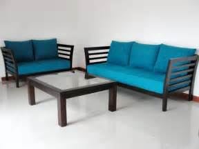 wooden sofa set 3 2