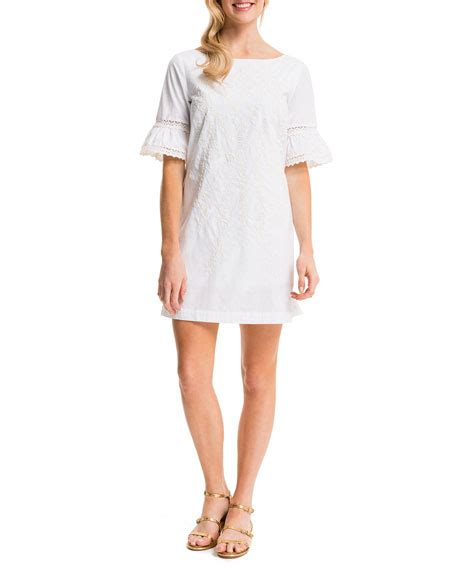 Noelle Flare Dress cynthia steffe noelle embroidered sheath dress white