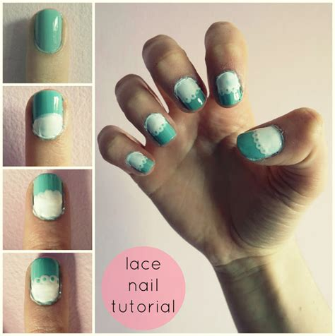 nail art lace tutorial lovely nail tutorials for spring pretty designs