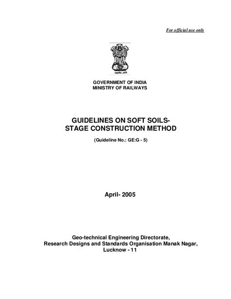 layout of an official report design of high embankment official report