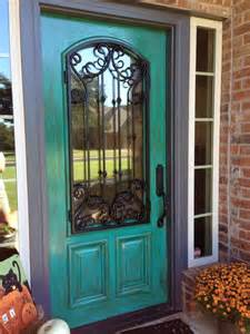 turquoise doors for the home