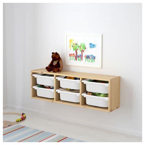 ikea wall trofast wall storage pine white 93x21x30 cm ikea