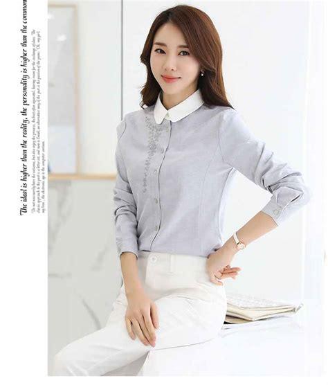 Fashion Import Murah Ay160906 kemeja wanita kantor import murah myrosefashion