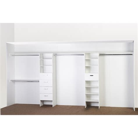 Wardrobe Units by Bedford White Wardrobe Shelf Unit Bunnings Warehouse