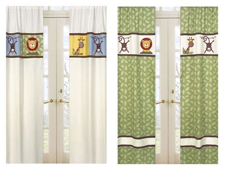 Safari Curtains For Nursery Safari Nursery Curtains Thenurseries