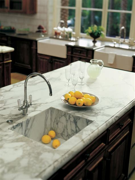 Marble Kitchen Sink Marble Kitchen Countertops Hgtv