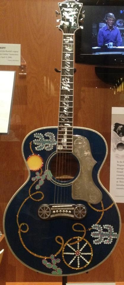 One of country star Porter Wagoner's custom guitars