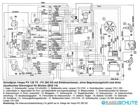 vespa px 200 wiring diagram vespa electrics