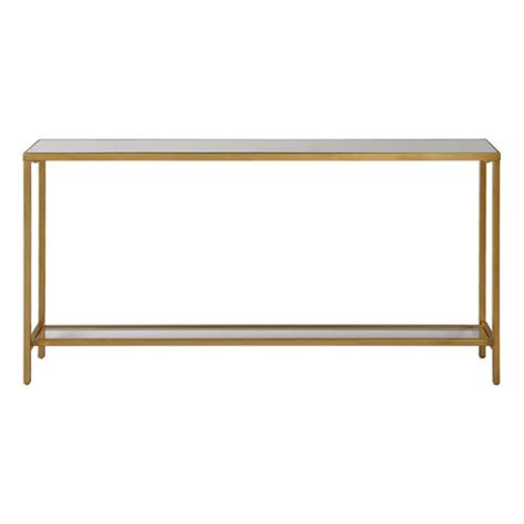 gold console table uttermost hayley console table in gold 24685
