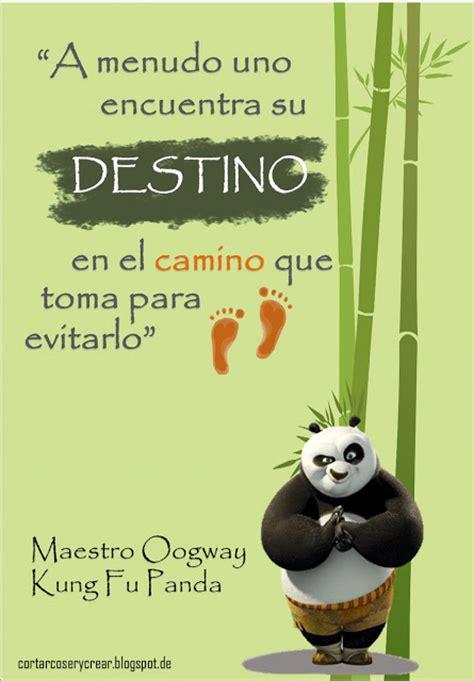 imagenes de kung fu panda bebe con frases ense 241 anzas del maestro oogway cortar coser y crear