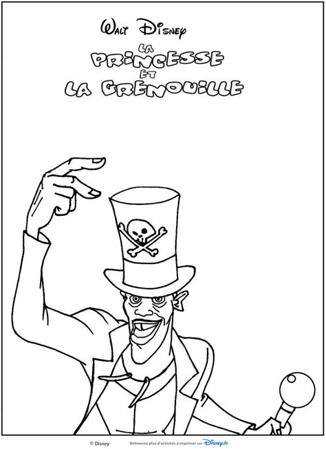 Coloriages La Princesse Et La Grenouille Colouring Page From The Princess And The Frog Free Coloring Sheets