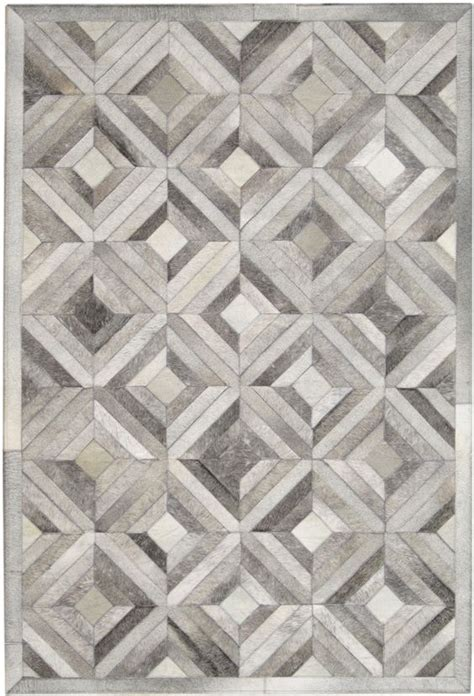 rug patterns madisons gray parquet pattern patchwork cowhide rug grey white interiors and dads