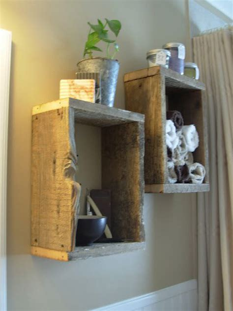 Wood Shelves Bathroom by 10 Simplicity Diy Bathroom Shelves Home Design And Interior