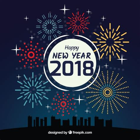 new year background free vector new year background with fireworks vector free