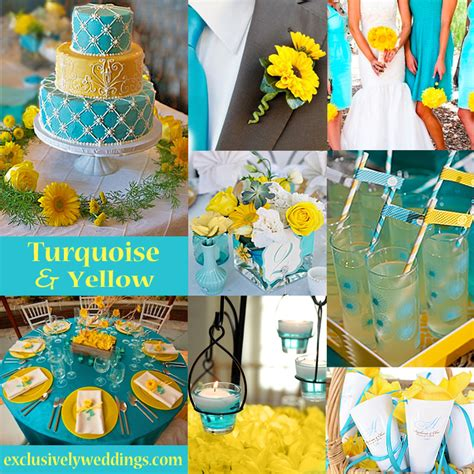 yellow and turquoise yellow wedding color combination options exclusively
