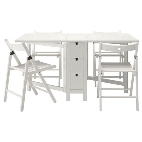 White Folding Table And Chairs Norden Terje Table And 4 Chairs Ikea Mathias House Tables Folding Chairs And