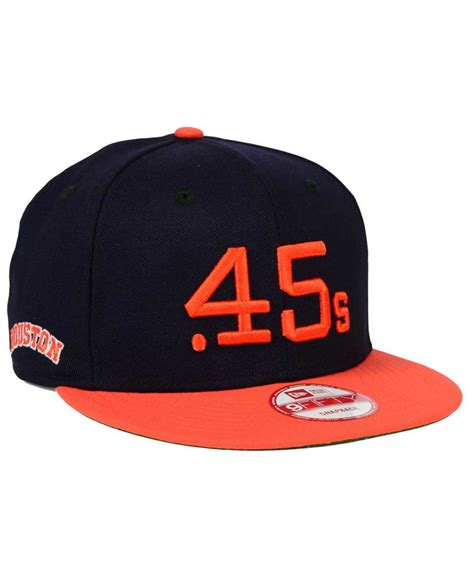 Snapback Cap 45 ktz houston colt 45s 2 tone link cooperstown 9fifty