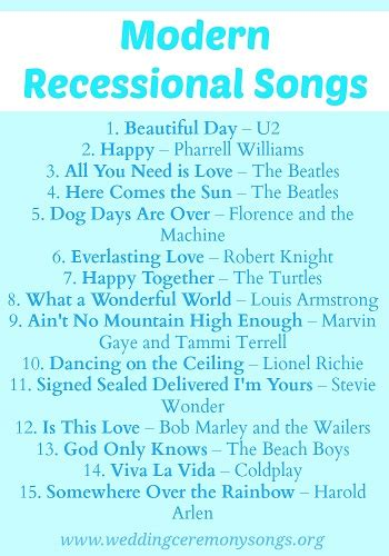 Wedding Ceremony Song List Piano recessional songs wedding ceremony songs