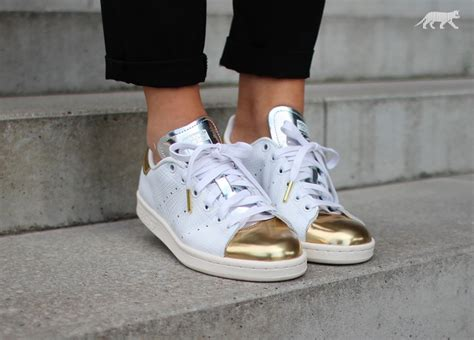 adidas stan smith white white gold met asphaltgold