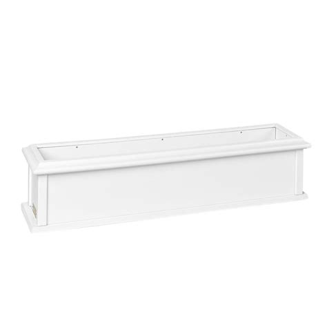white vinyl window boxes lazy hill farm designs charleston 36 in x 9 in white