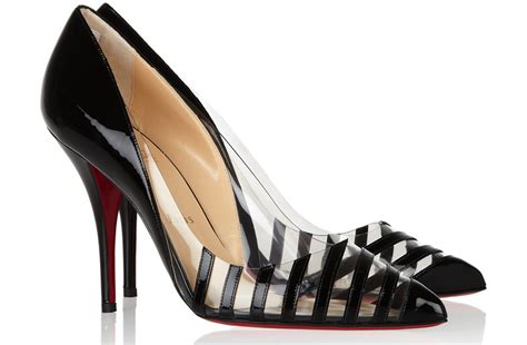 Clear Wedding Shoes by Christian Louboutin Wedding Shoes Clear With Black Stripes