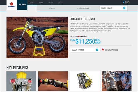Suzuki Bikes Website Suzuki Motorcycles Australia Launches New Website