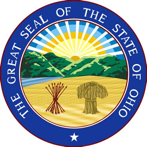 state of ohio ohio flags emblems symbols outline maps
