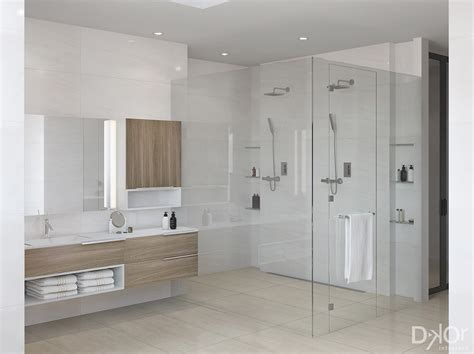 Modern Master Bathroom by Design Check In A Modern Master Bathroom In Coral Gables