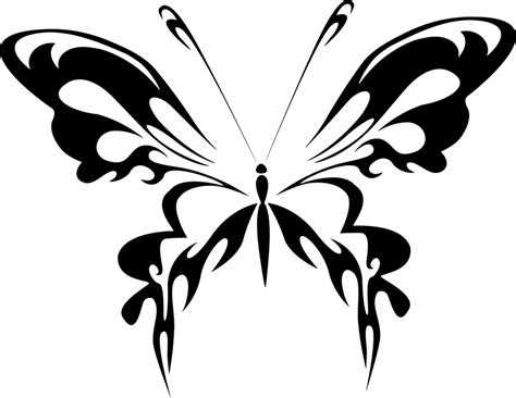 Kupu Hitam gambar vektor gratis abstrak hewan hitam kupu kupu