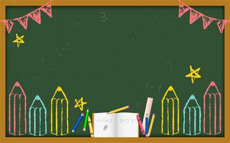 background design for kinder creative cartoon blackboard welcome new student background