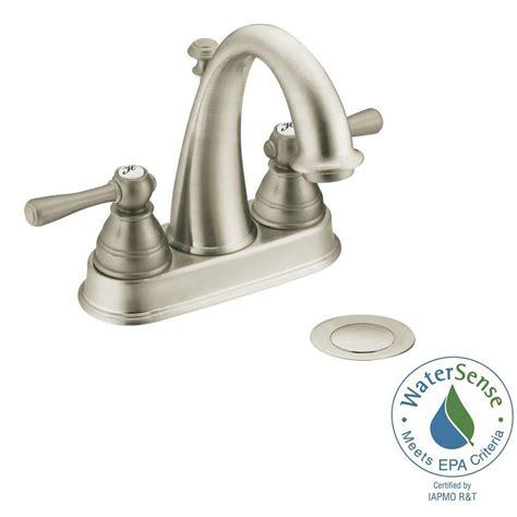 Lovely Bathroom Sink Drain Home Depot #6: Brushed-nickel-moen-centerset-bathroom-sink-faucets-6121bn-64_1000.jpg