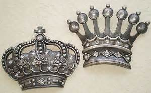 King And Crown Wall Decor by Royal Jeweled Antiqued Silver Crown Wall Decor King