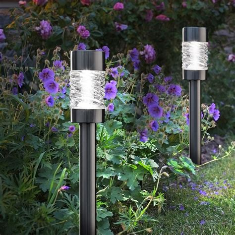 garden solar spot lights solar garden lights martello pack of 4