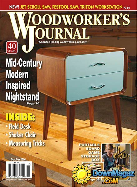 woodworkers journal woodworker s journal september october 2016 187