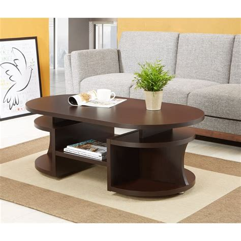 oval coffee table espresso furniture of america chancelor oval coffee table in