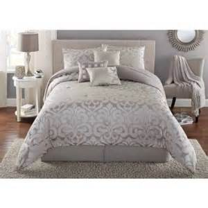 mainstays 7 damask bedding comforter set walmart
