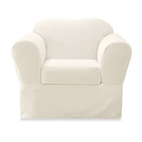 sure fit twill supreme chair slipcover sure fit 174 twill 2 piece supreme chair slipcover bed bath