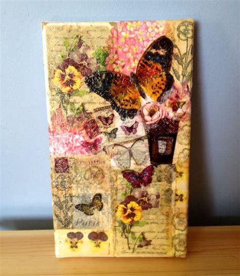 Decoupage Wall Ideas - 17 best ideas about decoupage canvas on