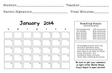 Elementary Reading Log Calendar March - january monthly reading log search results calendar 2015