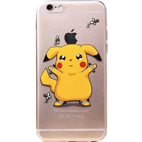 Pikachu E0564 Casing Iphone 7 Custom Cover apple iphone 6 pok 233 mon pikachu clear from kidult city
