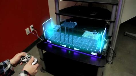 play table board console future holographic console