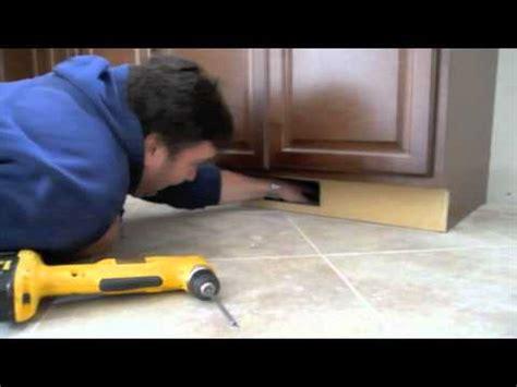 under cabinet toe kick ducting kit toeductor youtube