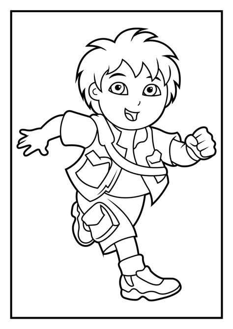 dora and diego coloring page dora coloring pages diego coloring pages