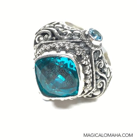 Topaz Gift Card Balance - size 7 sterling silver 3 stone blue topaz ring by sarda sarda ring5