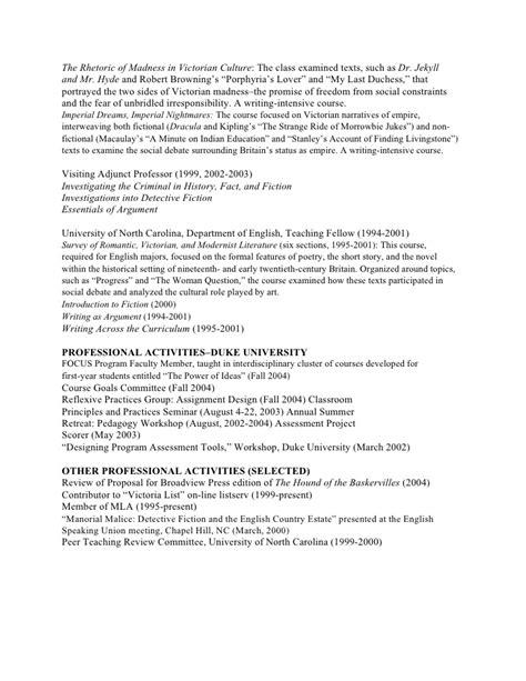 Postdoctoral Resume Sle by Academic Cv Cover Letter 46 Images Academic Cv Sle