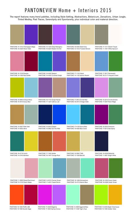 trending color palettes 17 best images about decor trends inspiration 2015 on