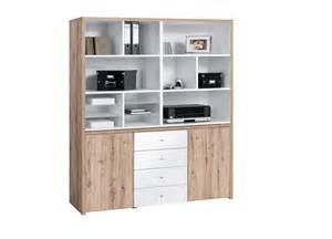 bureau modulable contemporain avec rangement ch 234 ne blanc
